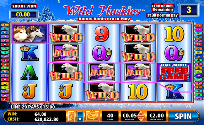 Wild Huskies Online Video Slot