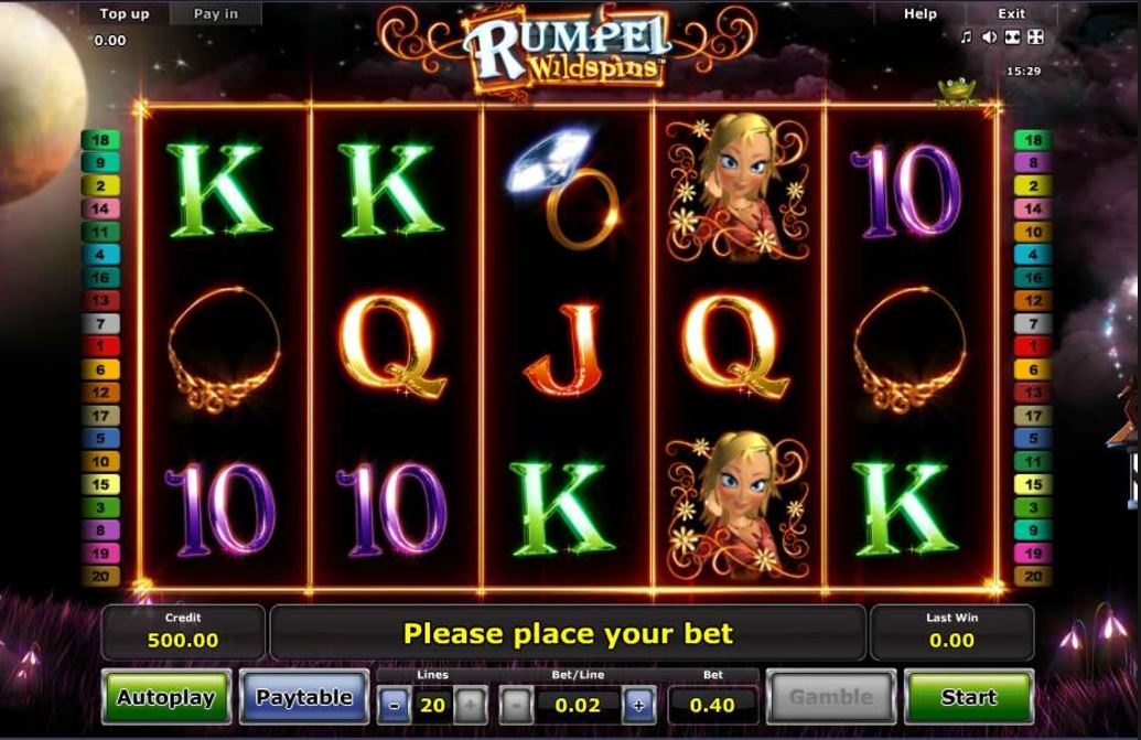 Rumpel Wildspins Video Slot