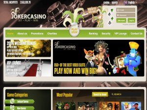 Joker Casino Homepage