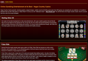 Vegas Country Casino_Game Lobby