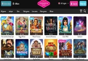Vinnarum Casino_Game Lobby