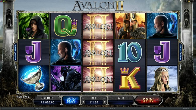 Avalon II Online Video Slot