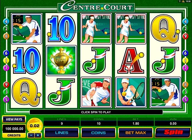 Centre Court Online Video Slot
