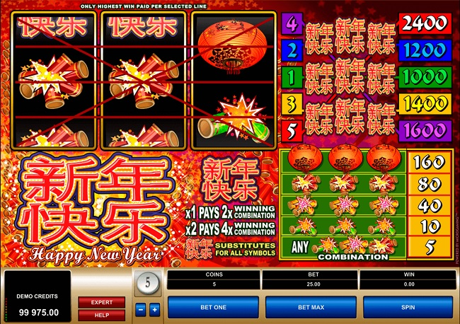 Happy New Year Online Video Slot