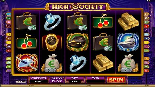 High Society Online Video Slot Review