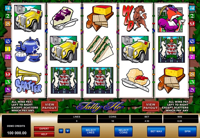 Tally Ho Online Video Slot