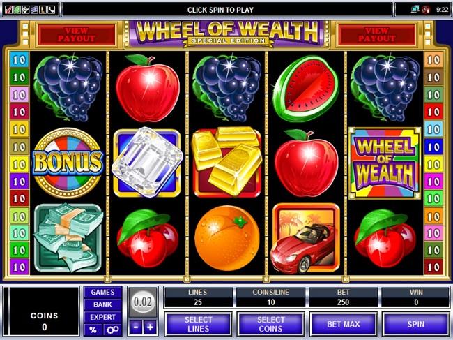Wheel of Wealth Online Video Slot