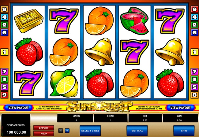 Sunquest Online Video Slot