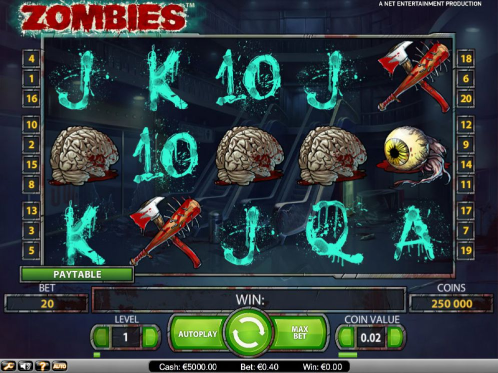 Zombies Online Video Slot